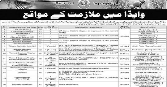 WAPDA Jobs 2021 (All Pakistan) - Jobs in WAPDA Latest / New