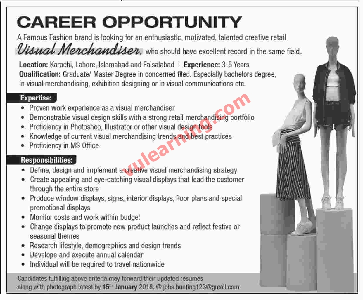 Job opportunities for fashion merchandising majors 38