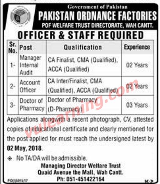 Pakistan Ordnance Factories POF Welfare Trust Wah Cantt