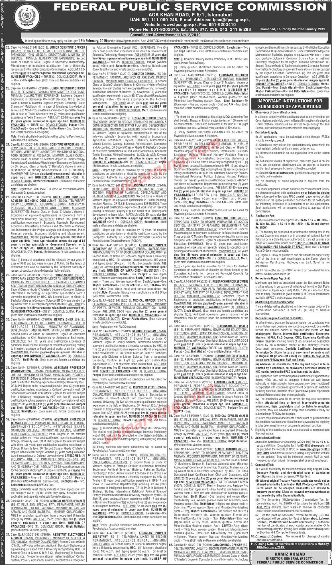 Intelligence Bureau (IB) Jobs 2019 for Assistant Directors, Deputy