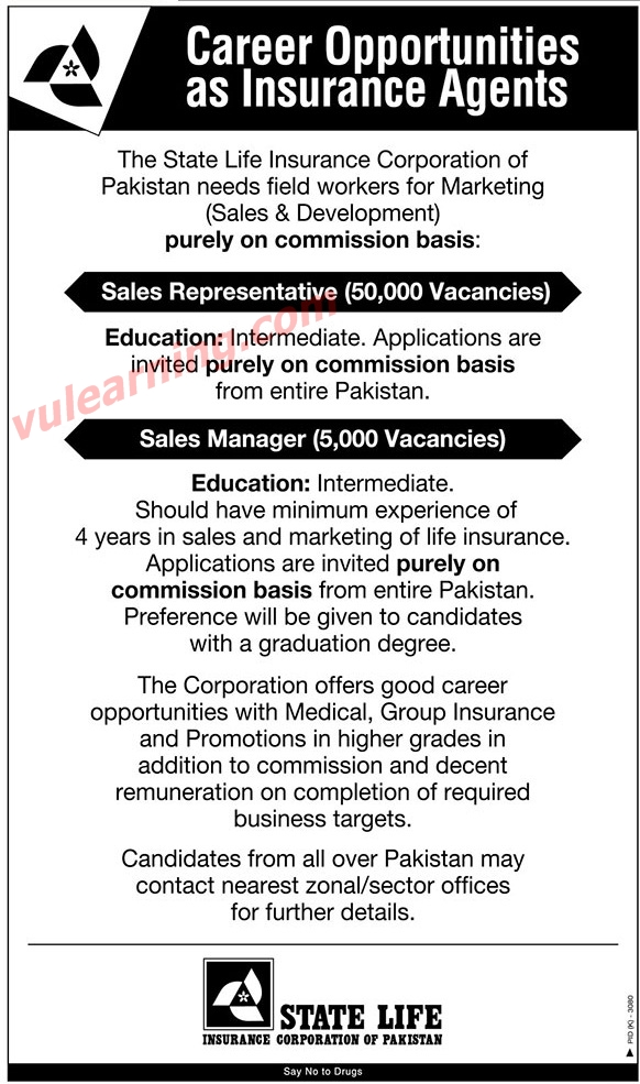 State Life Insurance Jobs 2019 for 55000+ Sales ...