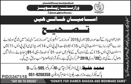 Ministry Of Railways Jobs 2019